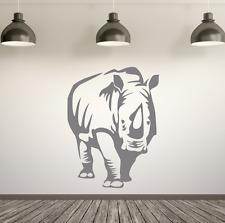 Rhinoceros Rhino Giungla Safari Style. Adesivo Parete in Vinile ARTE Decalcomania. qualsiasi colore