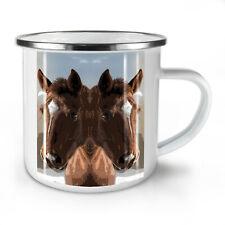Horse Painted Face NEW Enamel Tea Mug 10 oz | Wellcoda