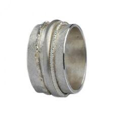 Breiter matter Ring 925er Silber mit drehbaren Ringschienen