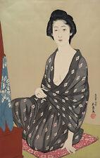 "Hashiguchi Goyo : ""Woman in a Summer Garment"" (1920) — Giclee Fine Art Print"