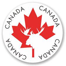 2 x Canada Vinyl Sticker iPad Laptop Travel Luggage Leaf Moose Gift Flag #4338