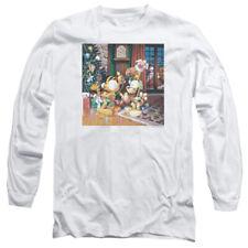 Garfield Odie Tree Mens Long Sleeve Shirt White