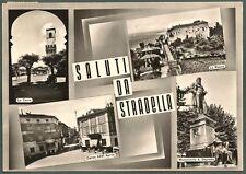 PAVIA STRADELLA 11b SALUTI da... VEDUTINE Cartolina FOTOGRAFICA viaggiata 1959