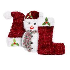 Natale Decorazione Large 3D DECORAZIONI PUPAZZO di NEVE, CALZE, Cappello tradizionale Tavolo Decor
