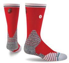 STANCE NBA Blazers Fusion 559 Red White Blac Logo Crew Basketball Socks Mens M L
