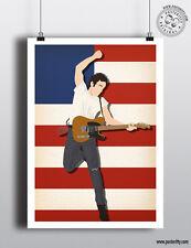 Bruce SPRINGSTEEN minima Poster Stampa Carta posteritty nato in USA per eseguire BOSS