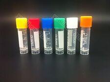 New 2ml Plastic Vials Microcentrifuge Tubes Orange Lab Screw Cap Tube Lot Sample