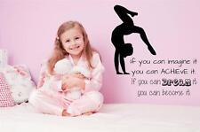 "Gymnastics Dream It Decal | Inspirational Wall Sticker | [CK32] 26""x22"""