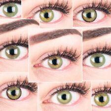 Farbige grüne Kontaktlinsen 3 Monatslinsen mit / ohne Stärke deckend natürlich