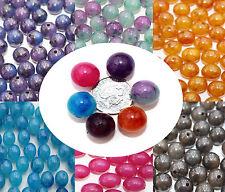 20 x Acrylique Rond 12mm Perles Effet Marbre colorisées