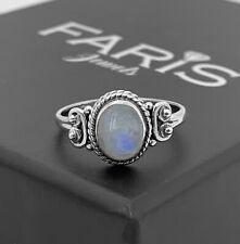 Designer Gemstone 925 Sterling Silver Ladies Moonstone Ring Jewellery