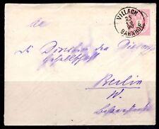 AUSTRIA 1890 VILLACH BAHNHOF RAILWAY STATION TO BERLIN