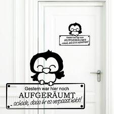 Wandtattoo Loft Aufkleber Türaufkleber Türschild Eulen Kinderzimmer Spruch 10842