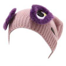 4340U cuffia bimba FENDI misto cashmere rosa pink wool hat kid girl