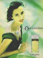 PUBLICITE  1998   LANCOME Senteurs cosmétiques parfum O