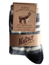 2 PAAR Kinder Wollsocken Alpaka Socken Schafwollsocken Ringelsocken  Gr. 23-38