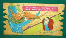 Vintage KOMIK KARD POSTCARD PLAK Comical Post Card - Vintage Humor Plaque