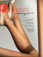 Damen Kniestrumpf 20den,Franzoni,Farben:Anthrazit,blau,schwarz,one size