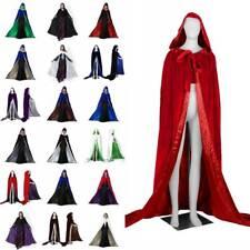 Stock Velvet Hooded Cloak MEDIEVAL Wedding Cape Coat Shawl Halloween Shawl S-6XL