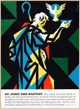 Choose Paper or Canvas POSTER.Bible Study.John Baptist.Office Room print.q336