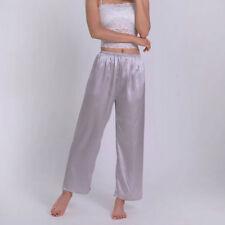 Lady Faux Satin Silk Trousers Pants Casual Long Pyjama Bottoms Lounge Nightwear