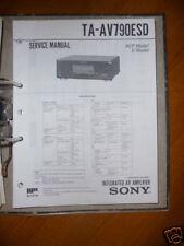 Service Manual Sony TA-AV790ESD Amplifier,ORIGINAL