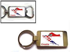 Croazia Bandiera Mappa PORTACHIAVI O Apribottiglie REGALO
