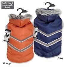Dog Coat Jacket Zack & Zoey Elements Arctic Reflective Pet Coats  Blue Orange