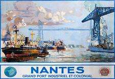 Affiche chemin de fer Etat - Nantes