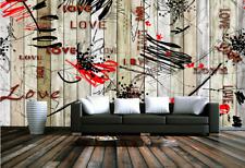 3D Holzbohlen Gekritzel 56 Tapete Tapeten Mauer Foto Familie Tapete Wandgemälde
