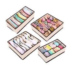 Scarf Drawer Bra Pouch Socks Storage Bag Closet Organizer Underwear Storage Box