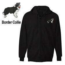 BORDER COLLIE DOG ZIPPER HOODIE SWEATSHIRT JACKET TRAINING SHIRT
