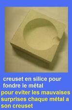 creuset en silice resiste à plus de 1150°C pour fondre du plomb 50mm  x 50 mm