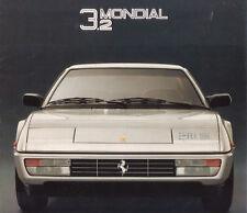 Brochure Ferrari Mondial 3.2 Pininfarina 1985 Arbe