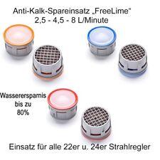 Perlator -Ersatz Spar-Strahlregler Einsatz 2,5, 4,5, 8,0 Liter per Minute  22/24
