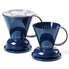 Mr. Clever Coffee Dripper Smart Handy Brewer BPA Free Hand Drip 2 Sizes Navy