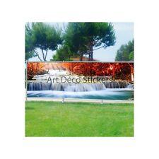 Brise vue déco imprimé pour jardin, balcon ou terrasse Rivière 9101