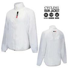 Ciclismo Lluvia Chaqueta al Aire Libre Correr Manga Larga Abrigo de Lluvia de peso ligero-Blanco