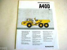 Volvo A40D 6x6 Articulated Truck Brochure