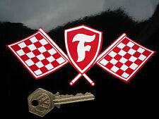 """FIRESTONE Shield & attraversato bandiere tradizionale Racing Rally Auto Adesivo 6 """"Retrò"""