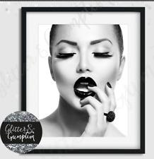 Fashion Wall Art, Fashion Print, Lips Poster, Black and white, Art Print, modern