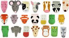 Fürnis Waschlappen mit lustigen Tiermotiven Gross 100% Bio Baumwolle GOTS