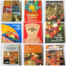 Kochen, Backen, Haushaltsführung in der DDR - verschiedene Bücher und Hefte