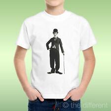 camiseta Niño niño Charlie Chaplin Forma Palo Film Mutiidea Regalo