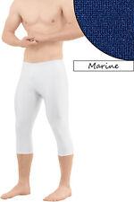 Herren Caprihose marine 3/4 Leggings Capri  Glanz elastisch Größen S bis XXL