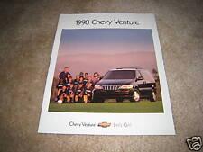 1998 Chevrolet Venture van minivan sales brochure dealer literature