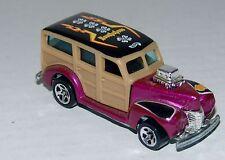 Hot Wheels 40 Woodie - MF Purple - Blue Tinted Windows Black Int - Malaysia 1999