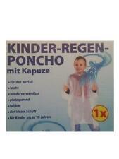 Kinder-Regenponcho mit Kaputze Regenschutz Regencape 4 Farben