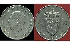 NORVEGE  5 krone 1975