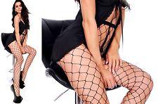 Sexy GREZZO Collant a rete nero GROSSE rete maglie larghe S-XL ITALIA EU